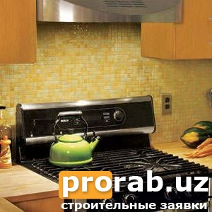 Укладка мозаики на кухне