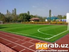 Спортивная площадка EPDM и Искусственная трава. г.Фергана