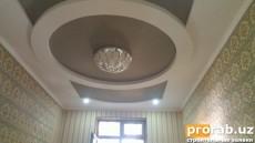 Гипсокартон +натежной потолок