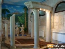 фонтаны, скульптуры, камины, и другие элементы малой архитектуры будут хорошим дополнением...