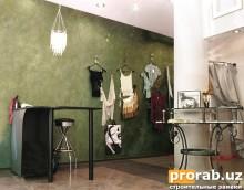 Невада - декоративная штукатурка из Италии. Подходит для бутиков с элегантным интерьерным ...