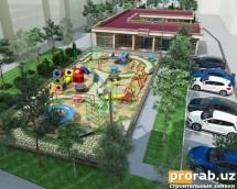 Оформление детской площадки.