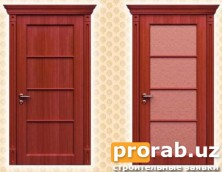 Двери межкомнатные, модели Bruno и Bruno Glass. Натуральный шпон - красное дерево.Все две...