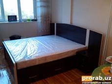 Кровать двухспальная.Материал ЛМДФ,МДФ-профиль,кромка ПВХ.