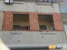 кирпичная кладка балконов