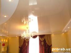 Потолок натяжной (частный дом)