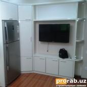 Встроенный шкаф в кухонной зоне - фасады Акрил