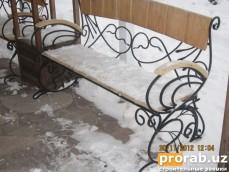 Кованные скамейки в Ташкенте