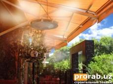 Охлаждение летних площадок ресторанов в Узбекистане