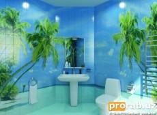 Печать ультрафиолетовыми чернилами на кафеле, майолике (ванны, бассейны)