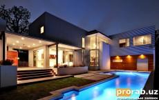 Проект дома в стиле хай-тек.