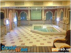 Строительство SPA центра в Ташкенте. Хаммам, Сауна, Душ Шарко, СПА-бассейн. 10 насосов, 1 ...