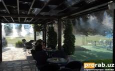 Cистемы охлаждения туманом, охлаждение летних площадок ресторанов