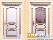 Двери межкомнатные, модели Luigi Gold и Luigi Gold Glass. Натуральный шпон - бук.Все двер...