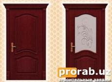 Двери межкомнатные, модели Classic и Classic Glass. Натуральный шпон - красное дерево.Все...