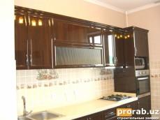 Кухонный Гарнитур - фасады глянцевые профиля (Турция), искусственный камень