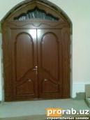 Дверь из материала МДФ шпонированный обкладной цена от 350.000 сум за м2
