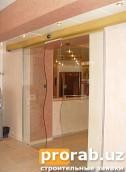 Безрамные двери из прочного закаленного стекла с автоматическими приводами