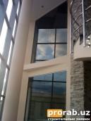 Панорамные цельно-стеклянные окна большого формата...