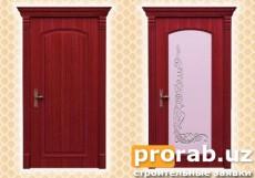 Двери межкомнатные, модели Imola и Imola Glass. Натуральный шпон - красное дерево.Все две...