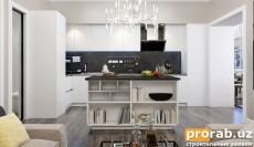 Кухня в квартире. Современный светлый дизайн