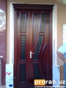 Дверь из материала МДФ шпонированный обкладной цена от 290.000 м2
