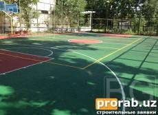 Резиновые покрытия для спортивного комплекса, баскетбольна...