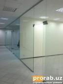 офисные перегородки из прочного коленного стекла