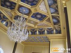 покрытие золотом и роспись потолка