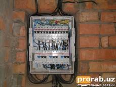 Установка электрощита в кирпичной стене!