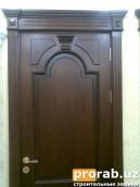 Дверь из материала МДФ шпонированный обкладной цена от 290.000 сум за м2