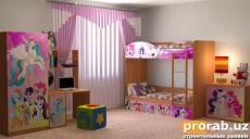 Изготовление и печать детской мебели на МДФ (шкафы, кровати и т.д.)