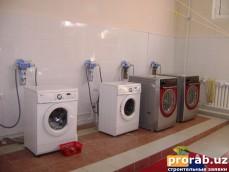 Установка фильтров на стиральные машинки.