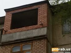 Балконы из облицовочного кирпича