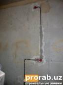 Разводка и установка колец на кухне!