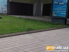 Аэропорт Ташкент, VIPВибропрессованная брусчатка и бордюр треугольный