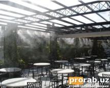 Охлаждение летних кафе в Ташкенте.