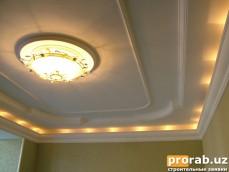 Потолок с подсветкой (частный дом)